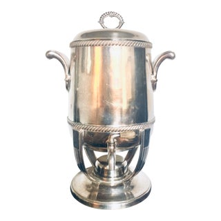 1930s Large International Silver Co. Art Deco Coffee Urn/Samovar For Sale