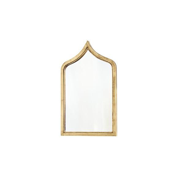 2020s Worlds Away Zanzibar Gold Leafed Mirror For Sale - Image 5 of 5