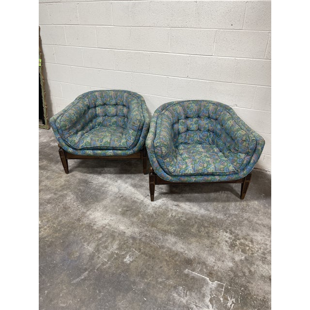 While these are fantastic as they are, they are a bit faded and could use a reupholstered my job. Fantastic design with...