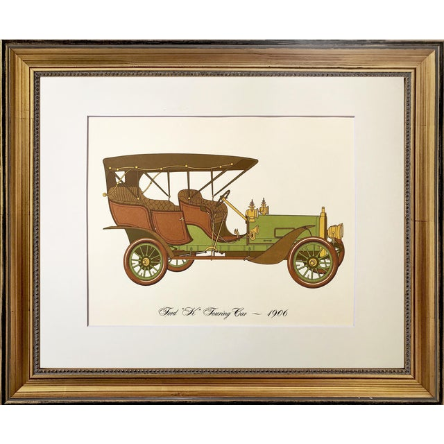 Vintage Lithograph of Ford K Touring Car | Chairish