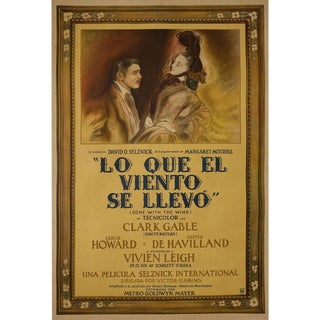 Gone with the Wind 1939 Argentine Film Poster For Sale