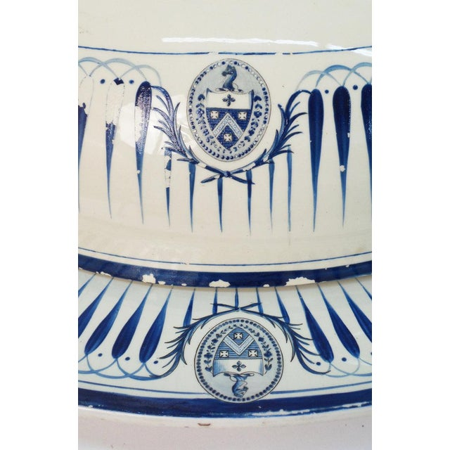 A very large 19th century serving platter with cover. Wedgewood. Impressed marks. England, ca. 1880. Some loss to the...