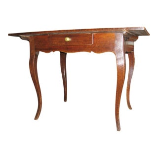 19th Century French Walnut Side Table For Sale