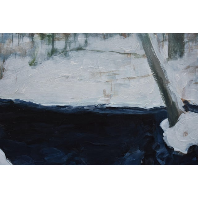 """Stephen Remick Stephen Remcik """"Pool at Destruction Brook"""" Small Contemporary Painting For Sale - Image 4 of 8"""
