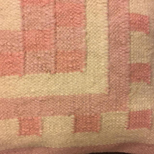 Handmade Dhori Indian Kilim Pillow Cover - Image 4 of 5