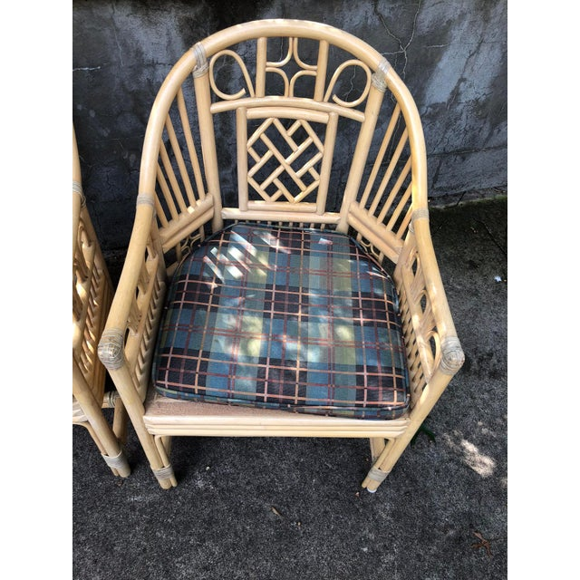 Brighton Pavilion Style Bamboo armChairs- a Pair For Sale - Image 4 of 7