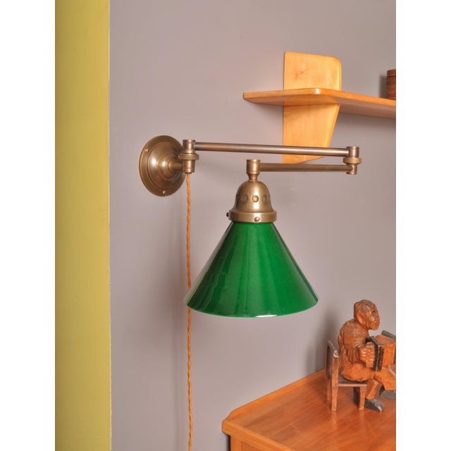 Swing Arm Wall Lamp, Switzerland 1930s For Sale In New York - Image 6 of 6