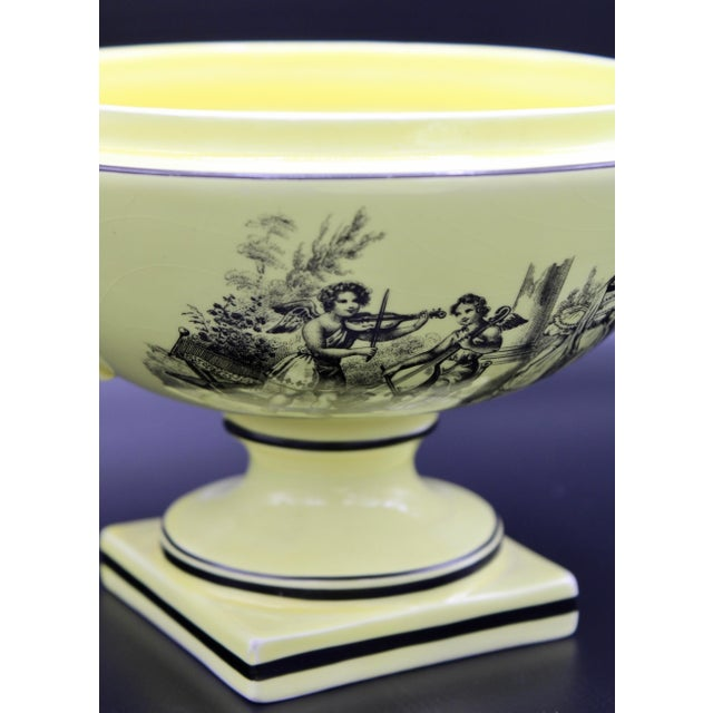 Mid 20th Century Italian Mottahedeh Yellow Handled Urn With Artichoke Lid For Sale - Image 10 of 13