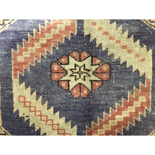 "Vintage Turkish Oushak Runner - 4'4""x9'11"" - Image 8 of 10"