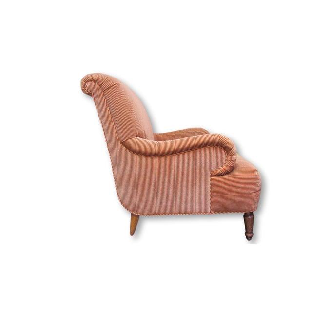 A. Rudin Velvet Stripe Lounge Chair - Image 3 of 9