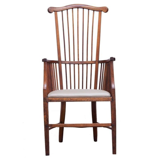Arts & Crafts Style Spindle Back Armchair - Image 1 of 5