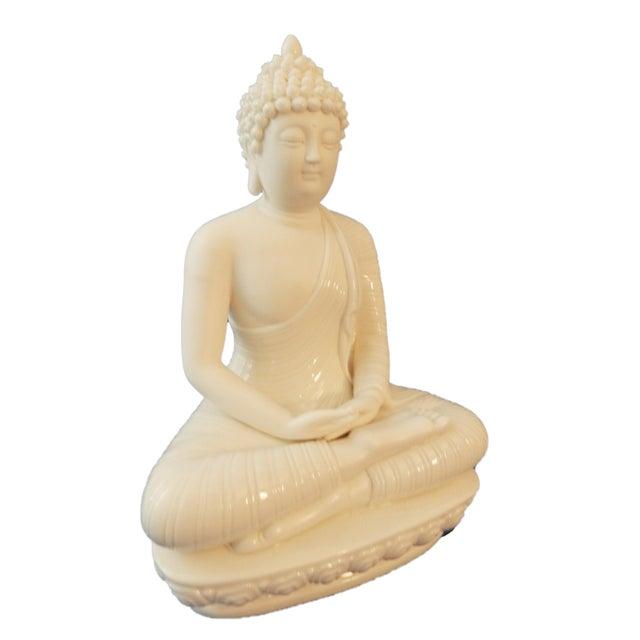 Asian Blanc De Chine Porcelain Meditating Buddha For Sale - Image 3 of 6