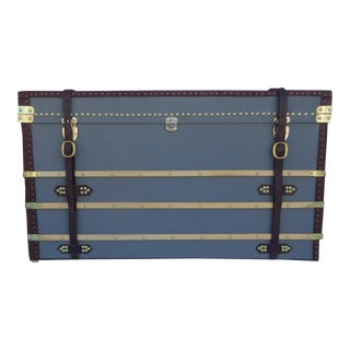 vintage used blue trunks and chests chairish