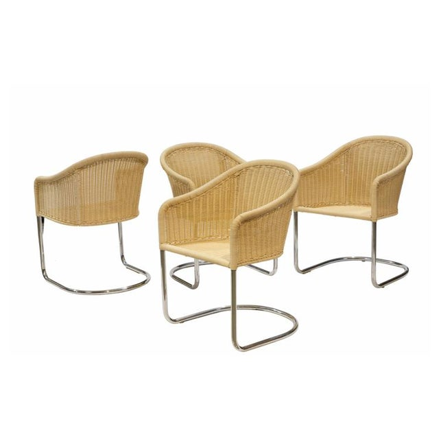 Mid-Century Modern Harvey Probber Style Cantilever Chairs - Set of 4 For Sale - Image 3 of 4