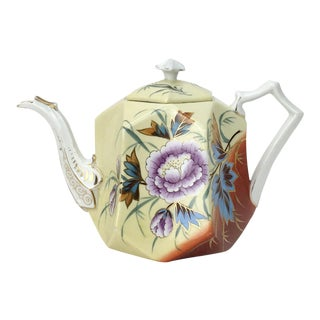 Rs Prussia Chrysanthemums Teapot For Sale