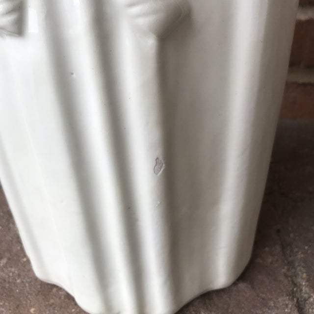 1970s Vintage Draped Ceramic Umbrella Stand For Sale - Image 11 of 12