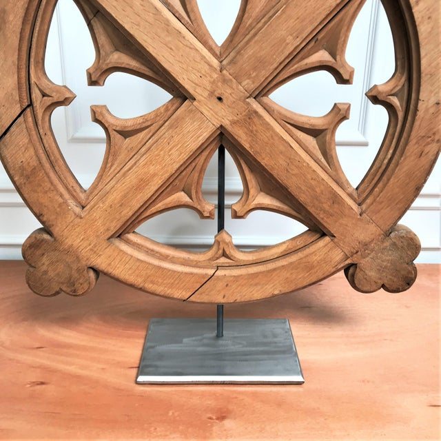 Early 20th C Oak Celtic Revival Architectural Fragment For Sale - Image 4 of 12