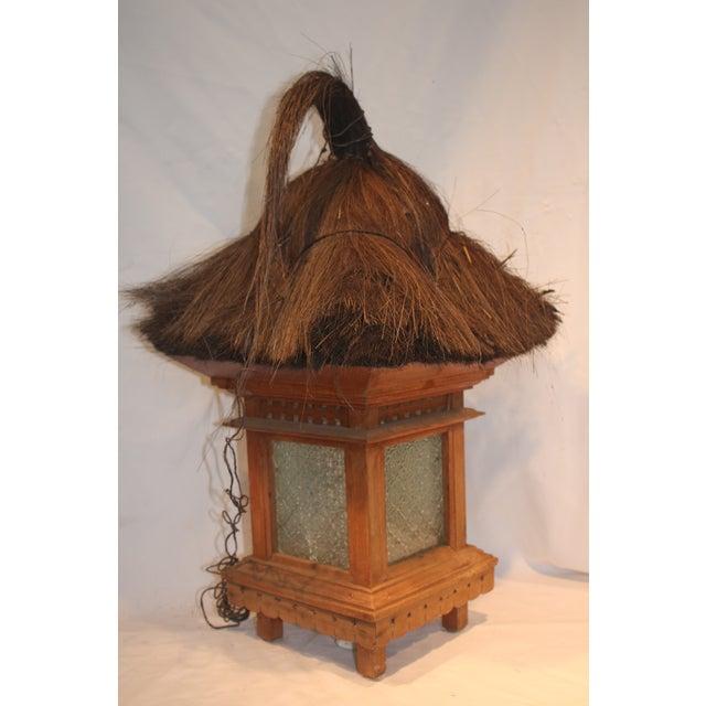 Balinese Traditional Wood & Grass Lantern - Image 2 of 3