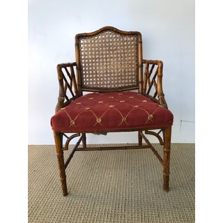1970s Vintage Faux Bamboo Arm Chair Preview