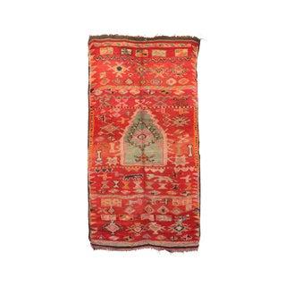 """Boujad Vintage Moroccan Rug, 4'7"""" X 9'2"""" Feet"""