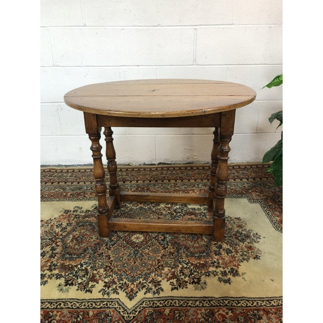 20th Century Folk Art Drop Leaf Table For Sale - Image 11 of 11