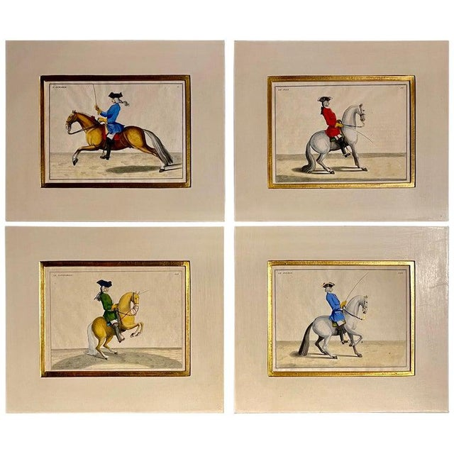 Four Engravings of Horse Riders L' Aimable, Le Joli, Le Sanspareil, Le Poupon For Sale - Image 11 of 11
