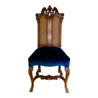 Early 20th Century Vintage Italian Rococo Chair For Sale