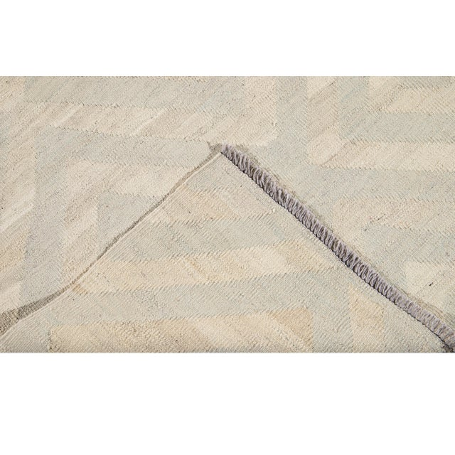 Contemporary 21st Century Contemporary Turkish Kilim Wool Rug For Sale - Image 3 of 12