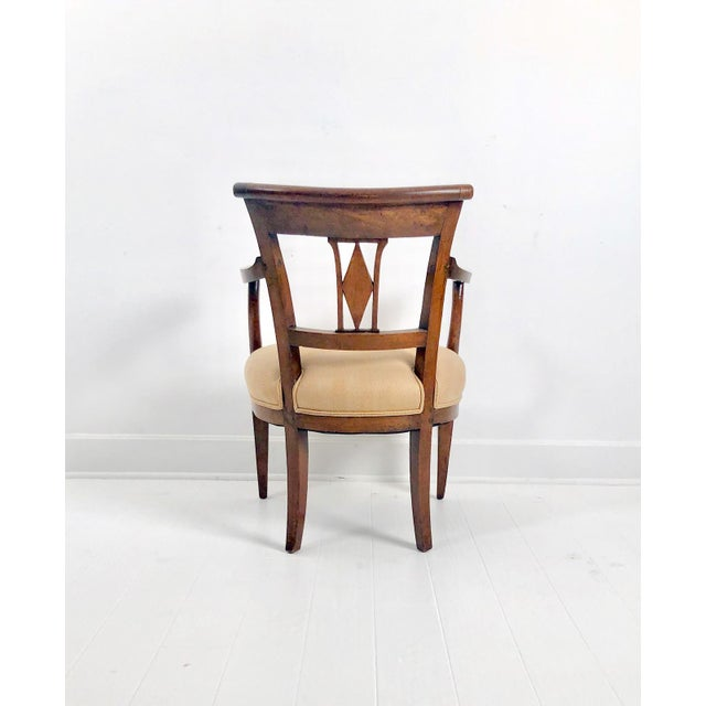 Italian Italian Neoclassical Armchairs C. 1830 - a Pair For Sale - Image 3 of 6