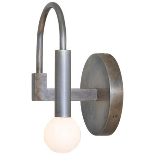 Arch Contemporary Wall Sconce in Vintage Silver For Sale