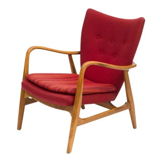 Acton Schubell and Ib Madsen Lounge Chair, Denmark, 1950s For Sale