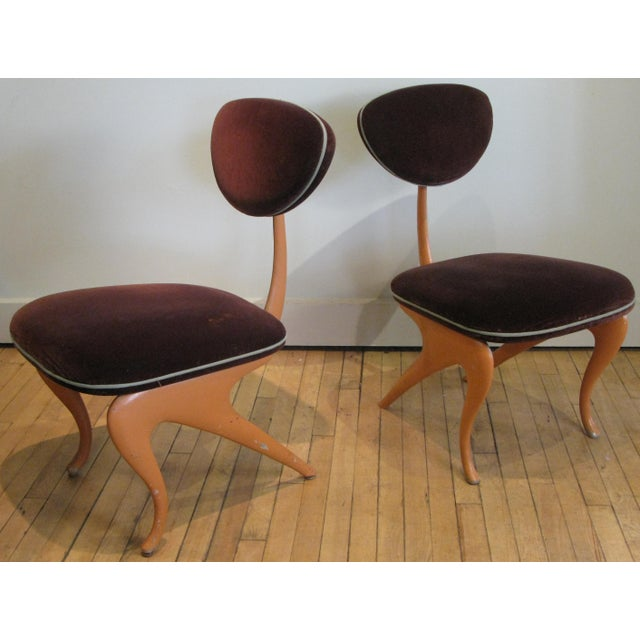 Purple Pair of Lounge Chairs by Jordan Mozer For Sale - Image 8 of 8