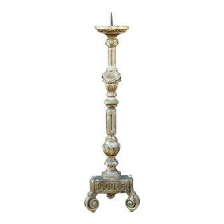Early 19th Century Bore Doré Candlestick from France For Sale