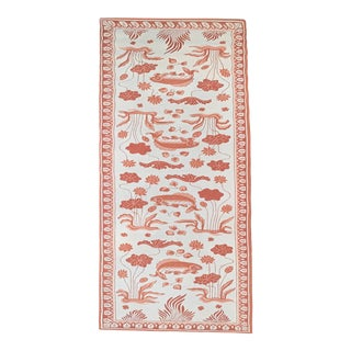 Custom Edward Fields Long Coral and Cream Runner- 5′6″ × 19′ For Sale