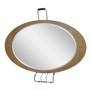 Monumental 80s Oval Mirror For Sale