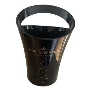 Vintage Black Moet Champagne Bucket For Sale