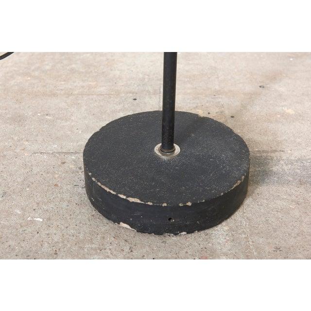 Chrome Black Hoogervorst Rare Counter Balance Floor Lamp for Anvia 1950s Netherlands For Sale - Image 7 of 11