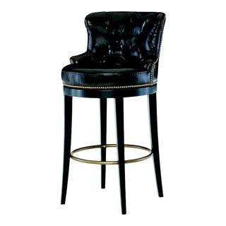 Century Furniture Forte Swivel Bar Stool, Sumatra Leather For Sale