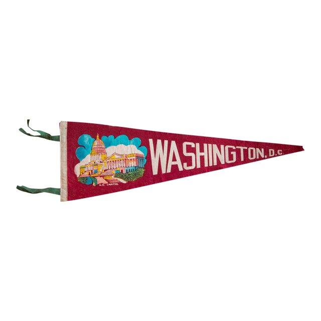 1960s Washington DC Felt Flag For Sale