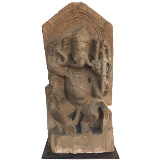 Indian Limestone Ganesh, Circa 7th Century For Sale
