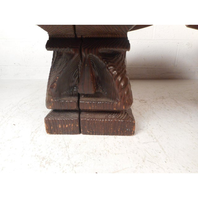 Witco Pair of Midcentury Totem End Tables by Witco For Sale - Image 4 of 13