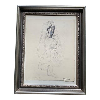 Pablo Picasso Jacqueline in the Spanish Costume For Sale