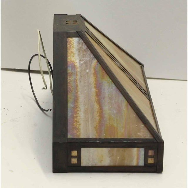 Arts & Crafts Arts & Crafts Stained Glass Sconce For Sale - Image 3 of 6