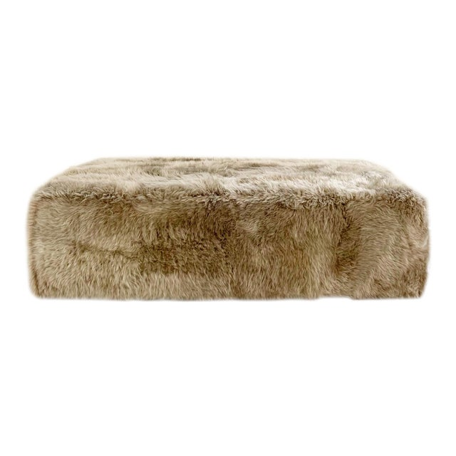 Forsyth Large Sheepskin Ottoman For Sale
