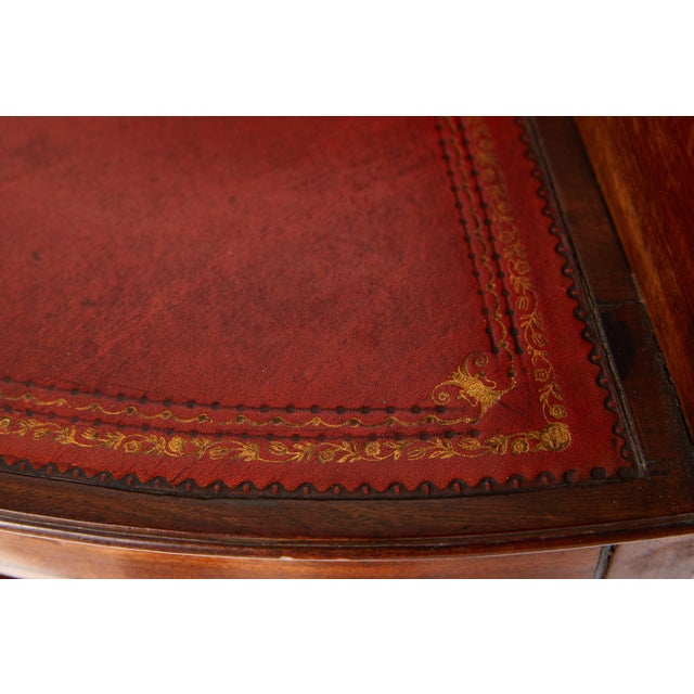 Mahogany Corner Wash Stand With Red Leather Top For Sale - Image 9 of 11