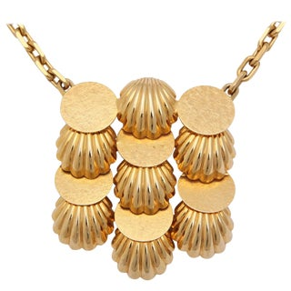 Shell Medallion Necklace For Sale