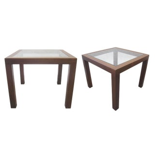 John Keal for Brown Saltman Walnut Side Tables- A Pair