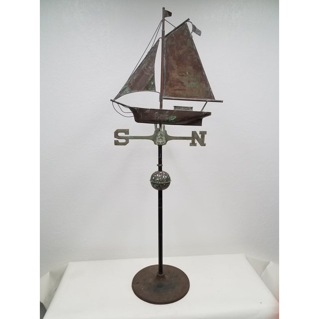 Antique Copper Boat Weathervane For Sale - Image 13 of 13
