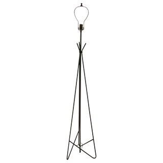 Midcentury Abstract Iron Floor Lamp For Sale