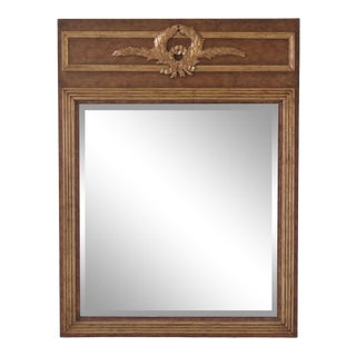 Lineage Gold Framed French Style Beveled Glass Mirror For Sale